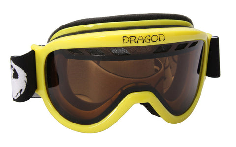 Dragon Alliance Snowboard Ski Goggles Yellow d1xt Mens womens