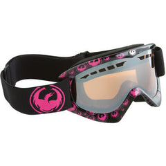 Dragon DXS Ionized Lens Black Pink Icon Snowboard Goggles dgn2
