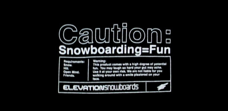 "Elevation Snowboard Sweatshirt Hoody ""CAUTION"" small"