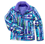 Faded Glory Snowboard Ski Girls Insulated Jacket CREW XS Purple Tile
