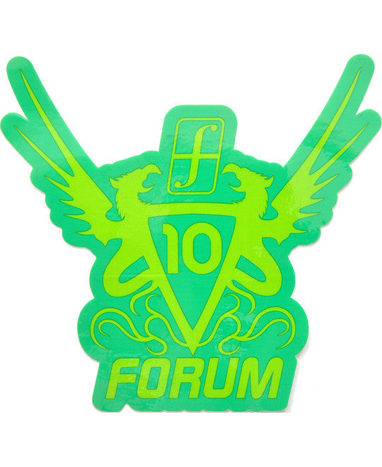 Forum Snowboard Sticker Anniversary Limited Edition Large Snowboarding Green-lt.green