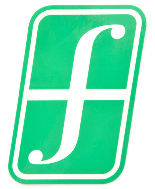 Forum Snowboard Sticker Corporate Large  Snowboarding Green-white