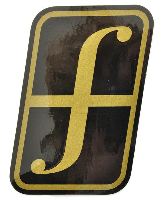 Forum Snowboard Sticker Corporate Large  Snowboarding Black-Gold
