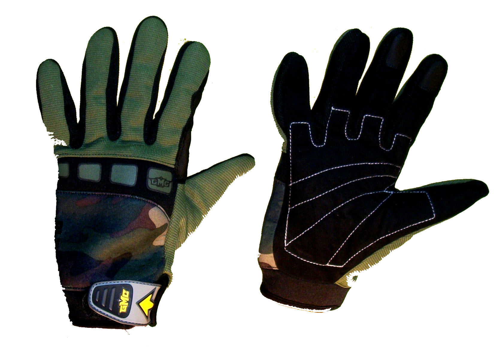 GMC Xhaust-ALT1 Snowboarding Pipe-Gloves-BMX-MOTOX-ATV-Quad-MTB green camo  Small