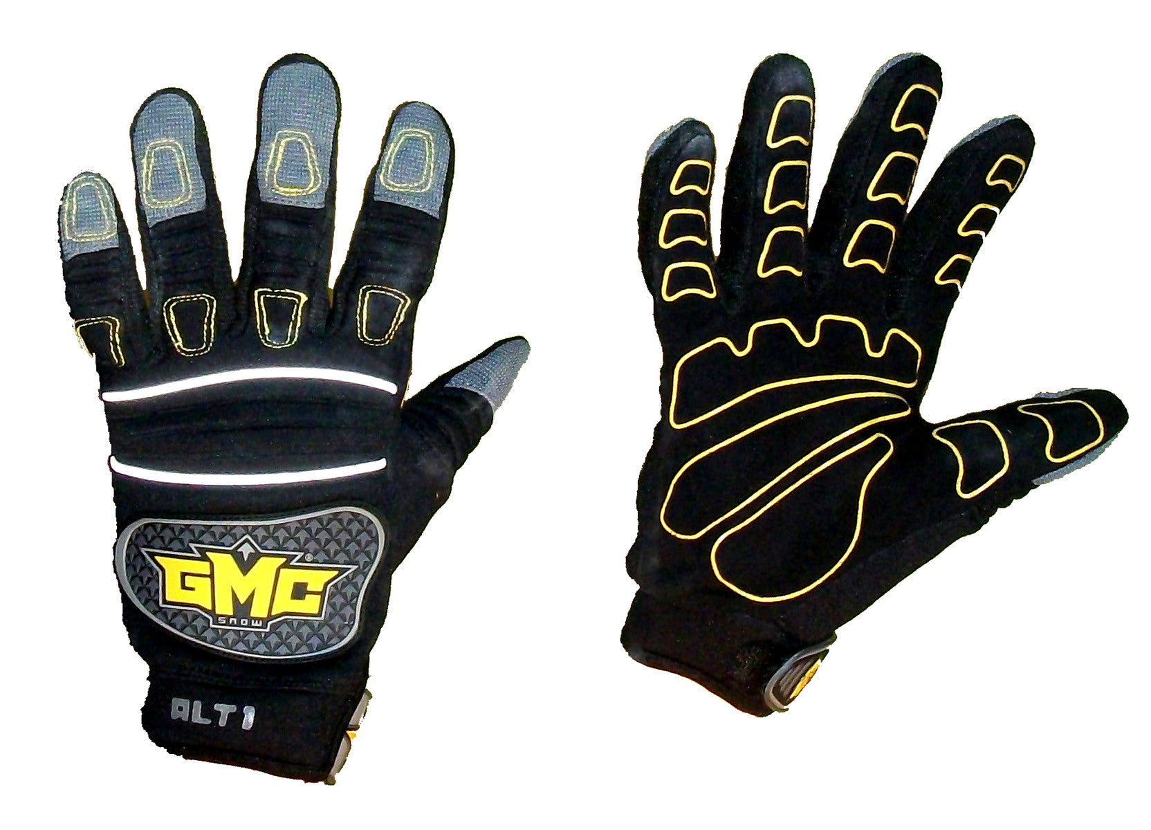 GMC Xhaust-ALT1 Snowboarding Pipe-Gloves-BMX-MOTOX-ATV-Quad-MTB black gray  Extra-Small