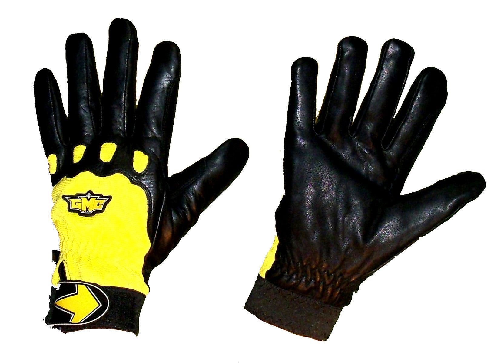 GMC Valkyrie Snowboarding Pipe-Gloves-BMX-MOTOX-ATV-Quad-MTB black yellow  Extra-Extra-Small