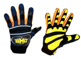 GMC Exhaust Snowboarding Pipe-Gloves-BMX-MOTOX-ATV-Quad-MTB navy orange yellow Small