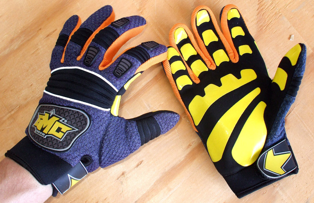 GMC Exhaust Snowboard gloves Navy,yellow & Org. XXS
