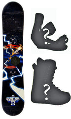 131cm Burton Chopper Electro Snowboard, Build a Package with Boots and Bindings