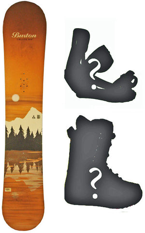 164cm Wide Burton Cruzer Lake Used Snowboard, Build a Package with Boots and Bindings