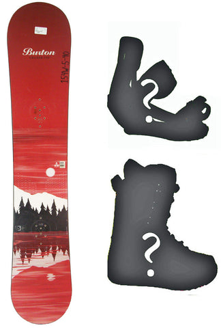 154cm Wide Burton Cruzer Lake New Blem Snowboard, Build a Package with Boots and Bindings