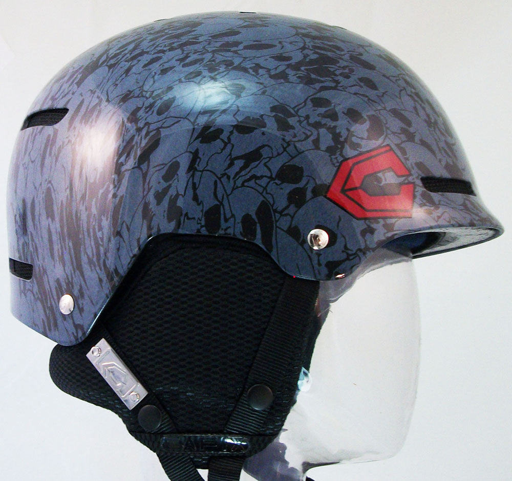 Capix Destroyer L/XL Mens Helmet Black Skulls snow, skate, wake, bike