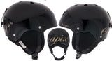 Capix Dinasty Large Womens Helmet Black Gloss snow, skate, wake, bike
