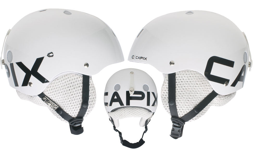 Capix Team L Xl Mens Helmet White Snow Skate Wake Bike