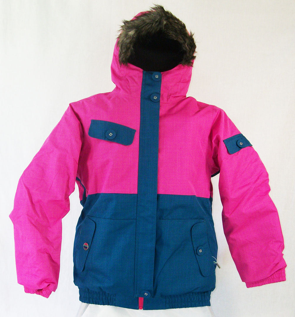 Firefly Lana Girls Snowboard Ski Jacket Raspberry Rose Ink Blue Medium