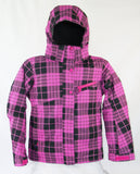 Firefly Gidget Girls Snowboard Ski Jacket Raspberry Black Plaid Medium