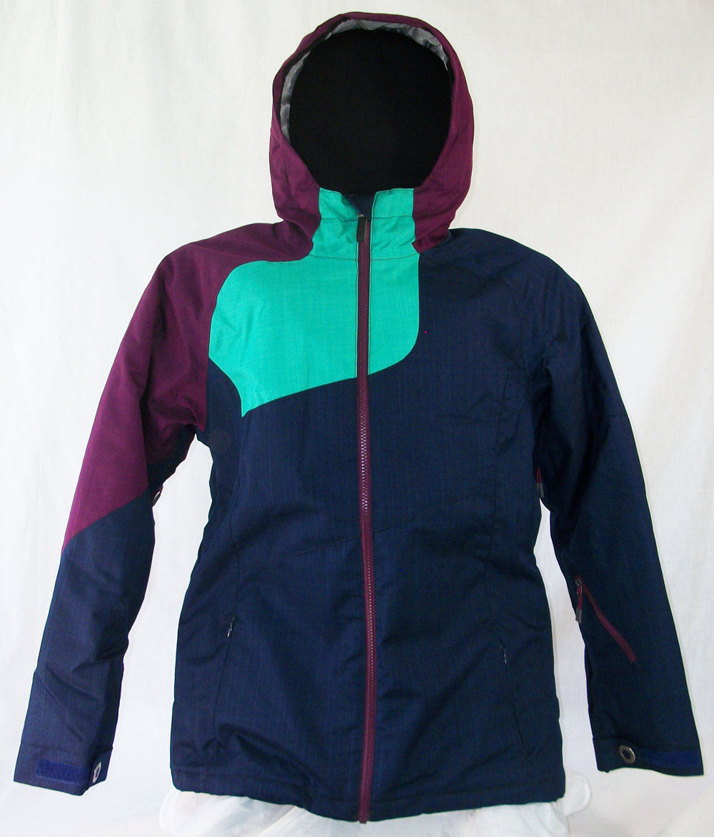 M3 Stella Womens Snowboard Ski Jacket Peacoat vivid green dark blue Medium