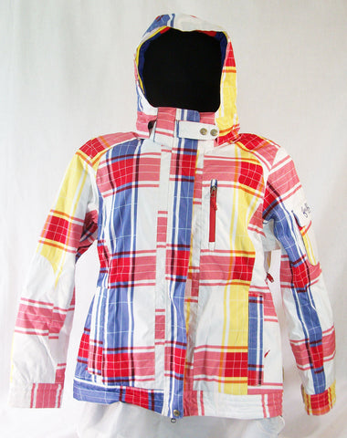 Firefly Jenn Womens Snowboard Ski Jacket White Plaid Medium