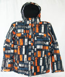 M3 Luke Mens Snowboard Ski Jacket Golden Poppy Plaid Large