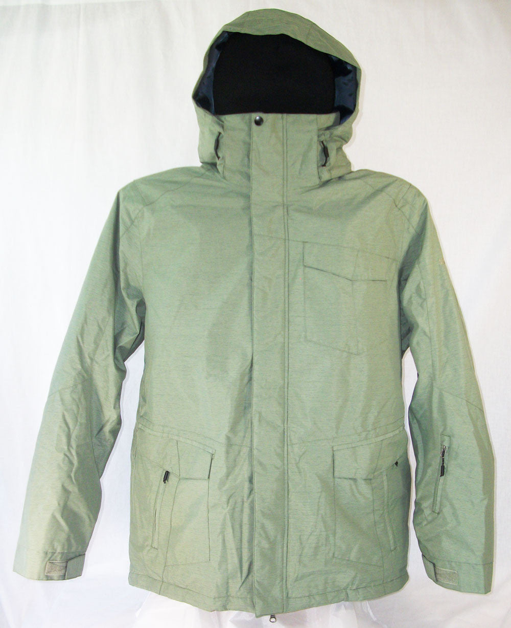 M3 Stan Mens Snowboard Ski Jacket Oil Green Large