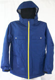 M3 Maverick Mens Snowboard Ski Jacket Blue Print Textured Large