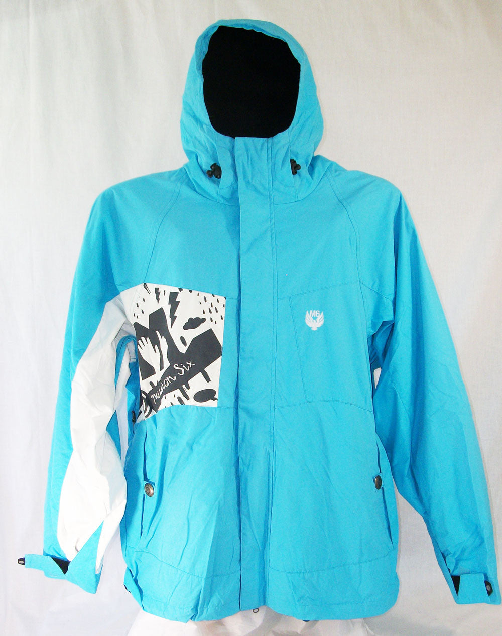 M6 Crankcase Mens Snowboard Ski Jacket Blue Large