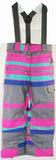 M3 Cindy Girls Snowboard Ski Pants Raspberry Stripe Print Medium