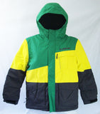 M3 Tom Boys Snowboard Ski Jacket Green Yellow Gunmetal Medium