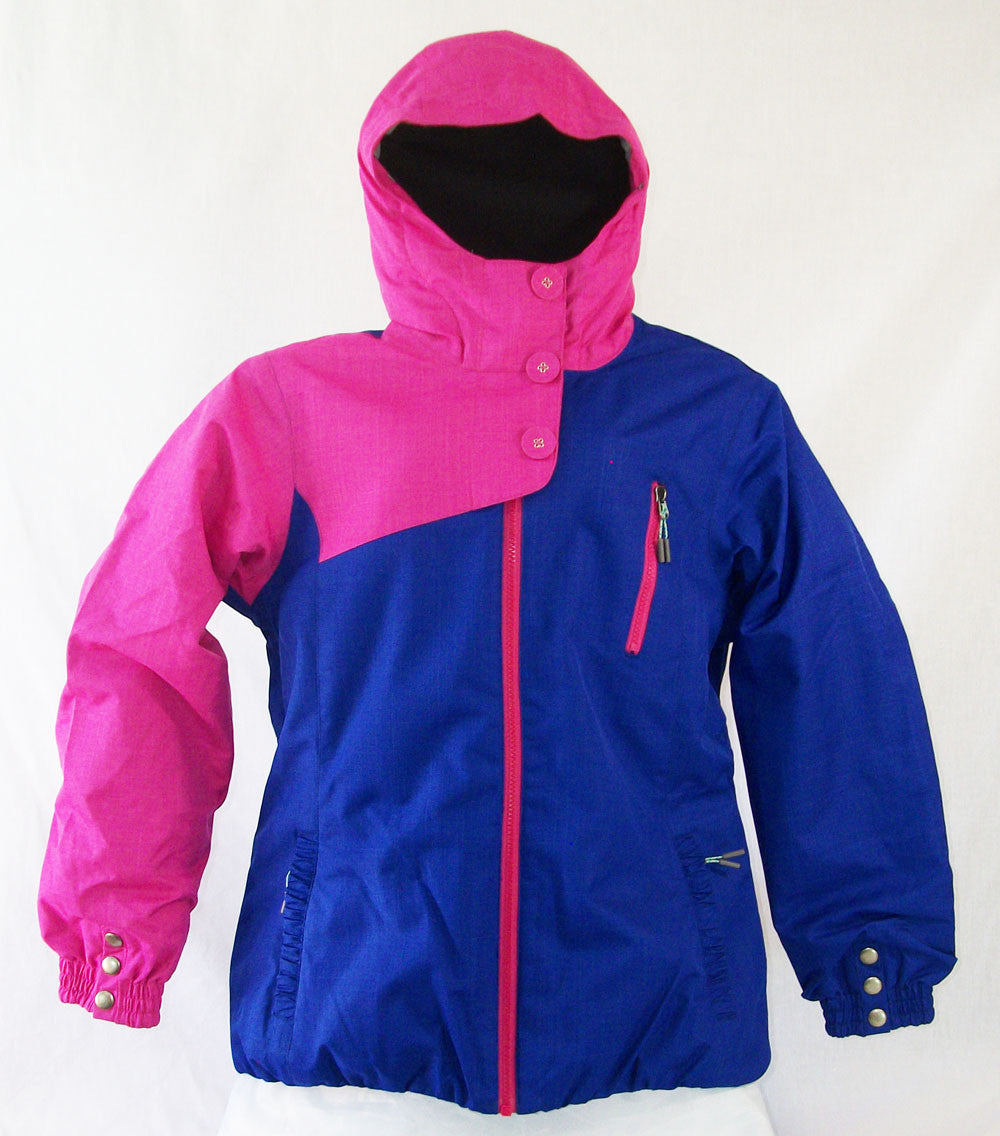 Firefly Carol Girls Snowboard Ski Jacket Raspberry Rose Clematis Blue Medium