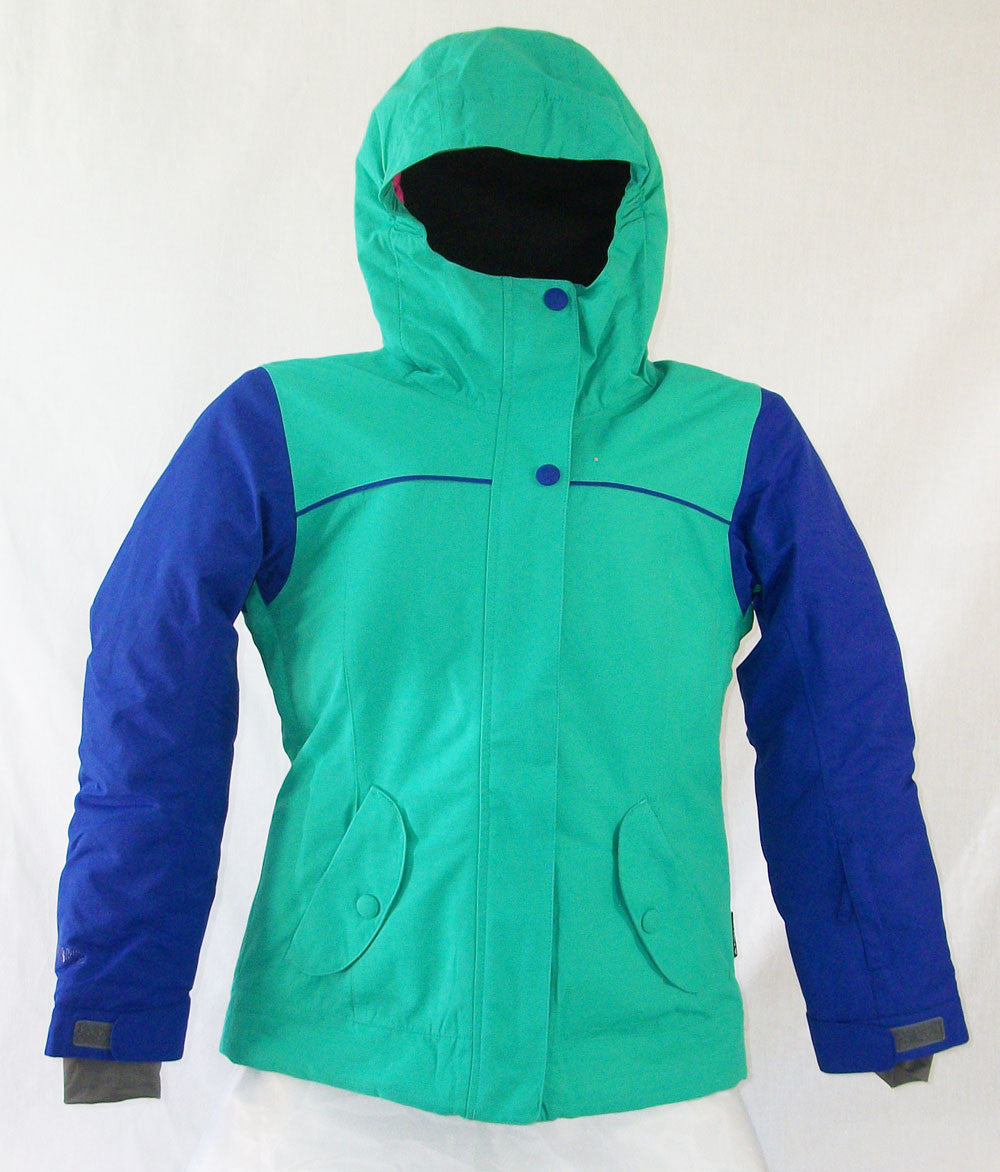 Firefly Flair Girls Snowboard Ski Jacket Green Aqua Blue Dark Medium
