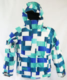 Firefly Flamingo Girls Snowboard Ski Jacket Blue Green Turquoise Medium
