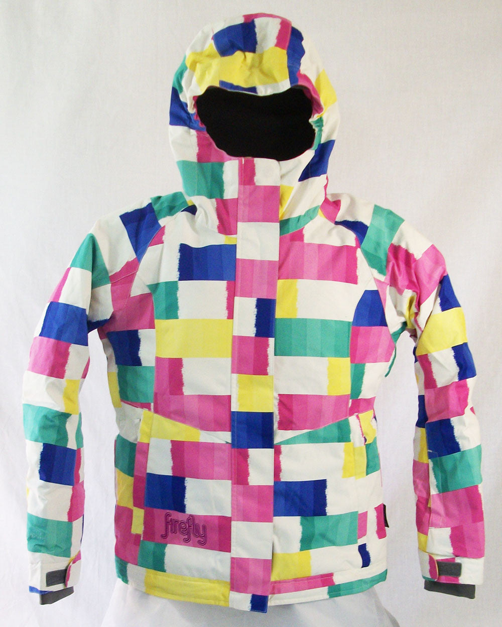 Firefly Flamingo Girls Snowboard Ski Jacket White yellow pink green blue Medium