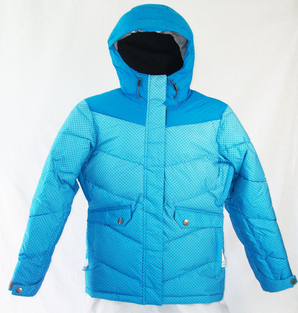 M3 Frappe Girls Snowboard Ski Jacket Blue Jewel Gradient Dotz Medium