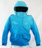 M3 Aerial Girls Snowboard Ski Jacket Blue Jewel Gradient Dotz Medium