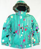 M3 Tara Girls Snowboard Ski Jacket Peacock Lolli Medium
