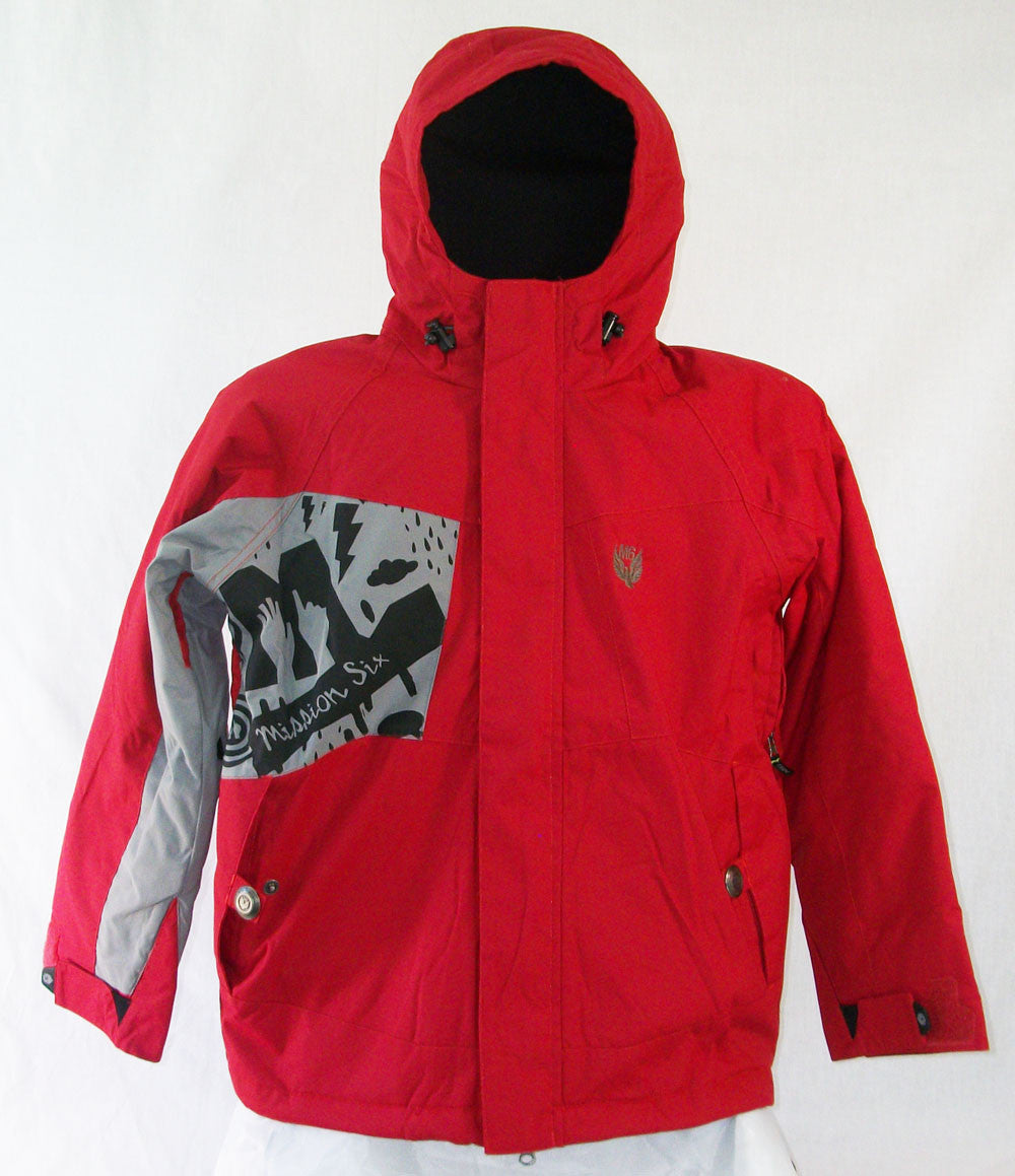 M6 Crankcase Jr Snowboard Ski Jacket Red Large