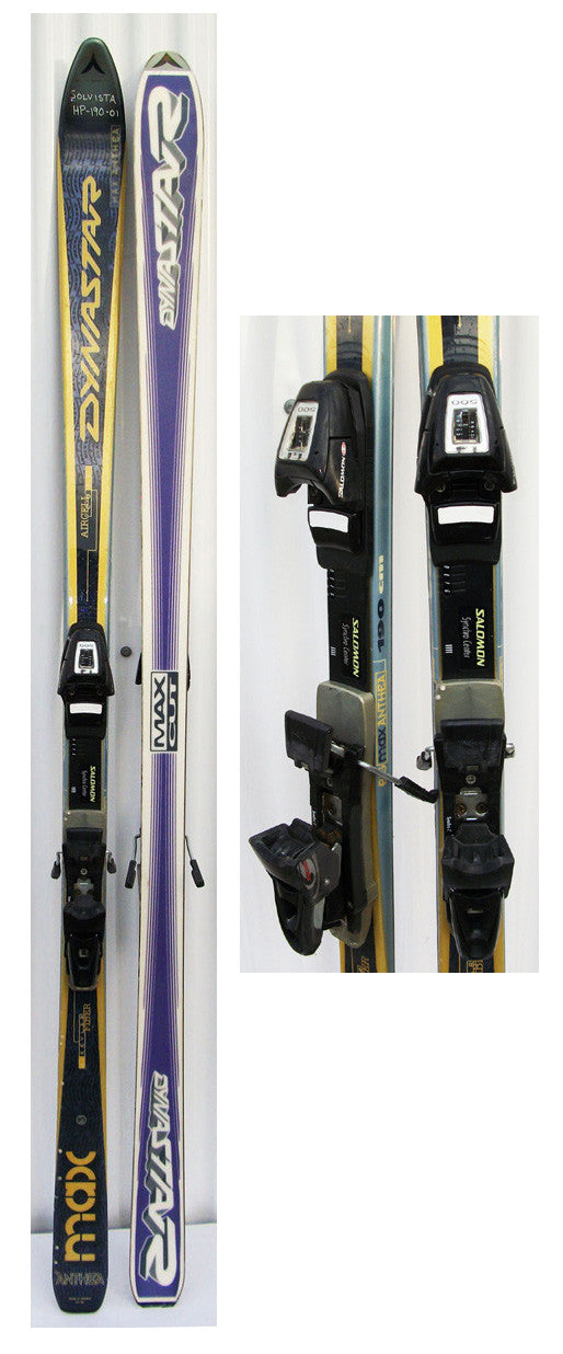 190cm Dynastar Aircell Big Max Athena Used Skis with Salomon Z12 Bindings Package