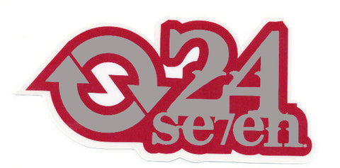 "24/7 24 seven Snowboard "" Arrow"" Sticker Red Silver"