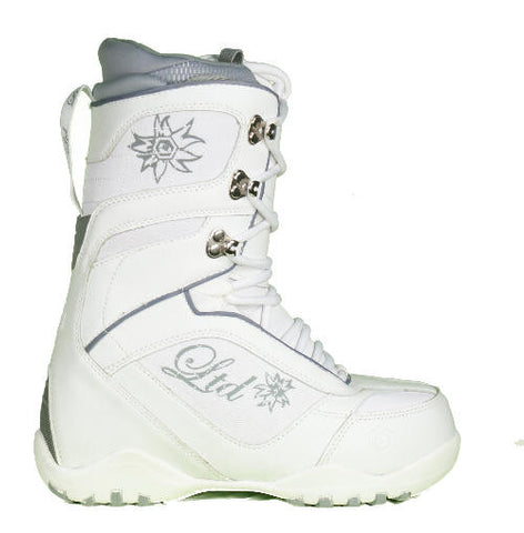LTD Classic Snowboard Boots White Grey Kids Youth Size 2