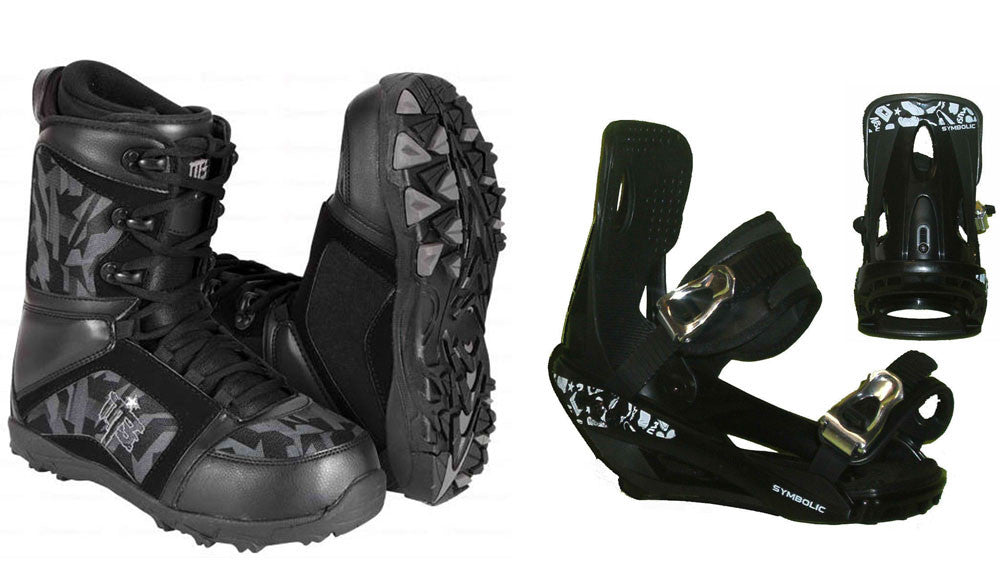 M3 Militia Boots and Symbolic Black Bindings Package Deal