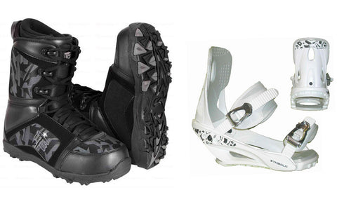M3 Militia Boots and Symbolic White Bindings Package Deal