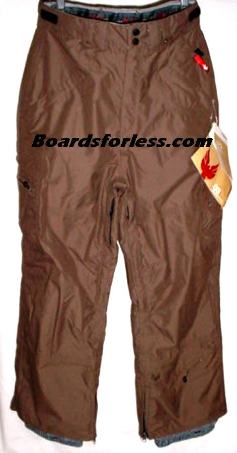 MISSION SIX SNOWBOARD PANTS LEADER BROWN XL 20,000MM