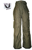 MONIX FAIRA SNOWBOARD PANTS WOMEN GIRL10K waterproof SKI GREEN XS 0-2 JK130