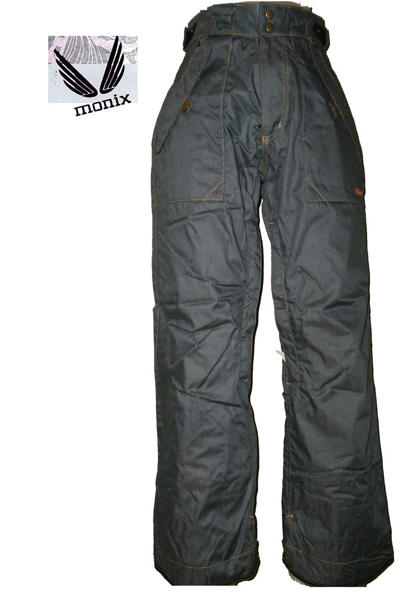 MONIX AIRHEART SNOWBOARD PANTS WOMEN GIRL10K waterproof SKI DENIM XS 0-2 JK120