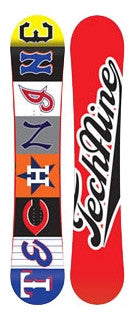 144cm Technine Young Gun Teams (blank black base) Rocker Snowboard