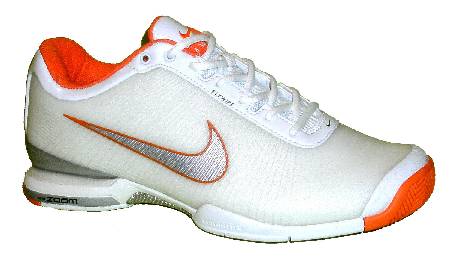 Nike Air Vapor VI Tour White/Orange Roger Federer RF Nadal Men Tennis Shoes 9.5