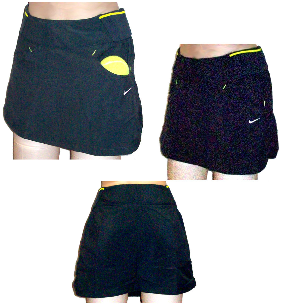 NIKE FIT DRY WOMENS SHARAPOVA TENNIS SKIRT SKORT  CHARCOAL