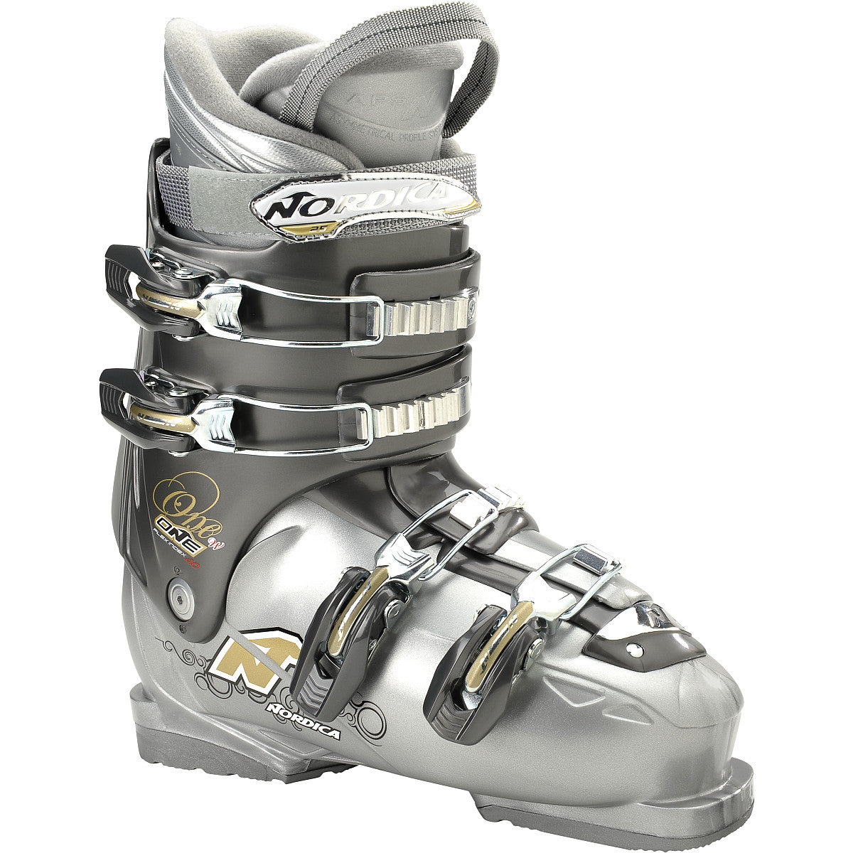Nordica One 40 Womens Ski Boots All Mountain Grey 6 7 8 9