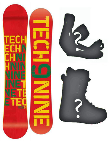144, 150, 153 Technine T-Money Rasta-red Camber Rocker Combination W cam Board or Build a Snowboard Package With Boots And Bindings