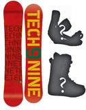 147cm, 150cm, 153cm, 156cm Technine T-Money Rasta-Blank Camber Rocker Combination Snowboard Package With Boots And Bindings